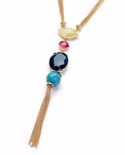 Look Royal this season with this stones and tassel necklace which will make you look classy, no matter what the occassion!!