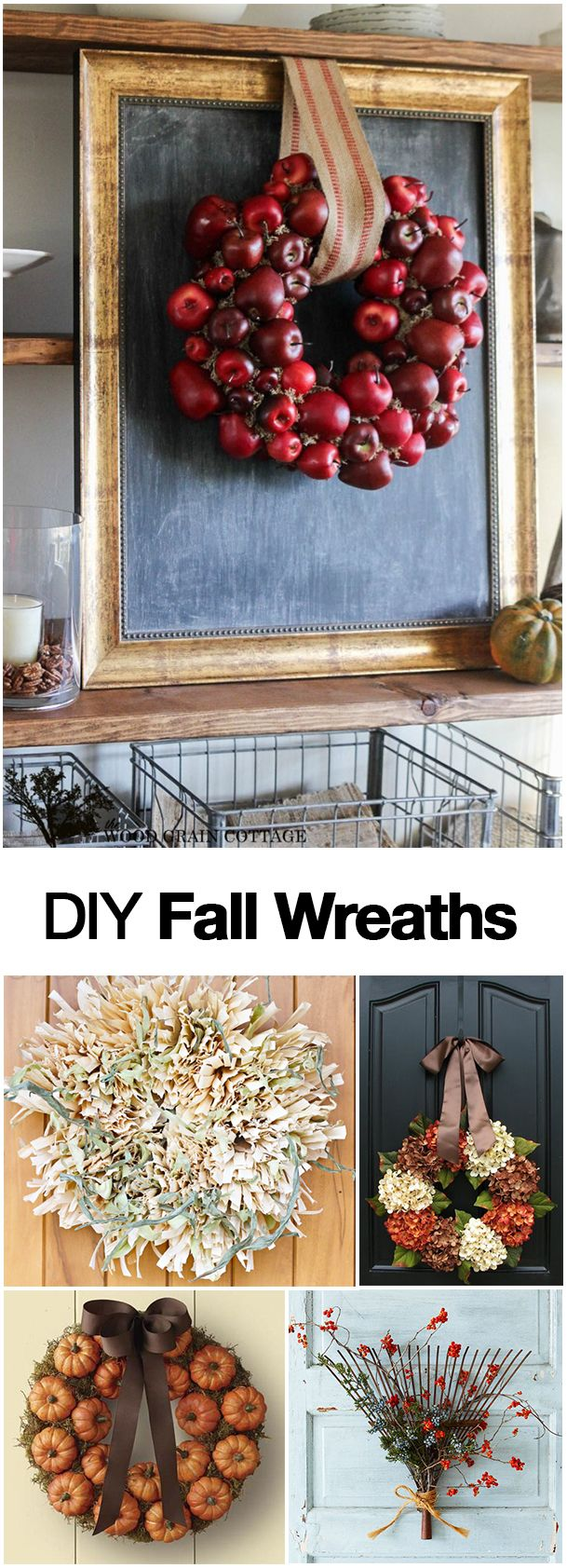 DIY Fall Wreath Ideas, Projects and Tutorials