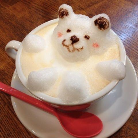 3D latte art of CafeChocoTea store. In sakado city of saitama pref, Japan. 埼玉県坂戸市でひっそりとパン屋さんの隣りで営業している『CafeChocoTea』店より