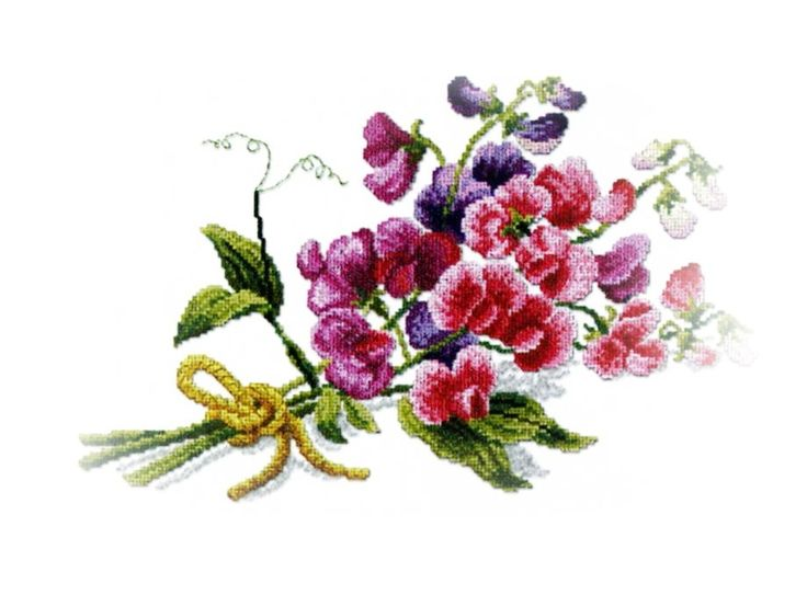 Hoje, partilho, este lindo raminho de ervilhas de cheiro.  Desejo-vos um dia muito feliz!!!