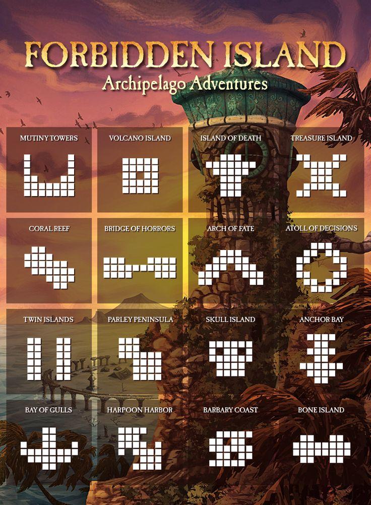 Alternate Forbidden Island layouts