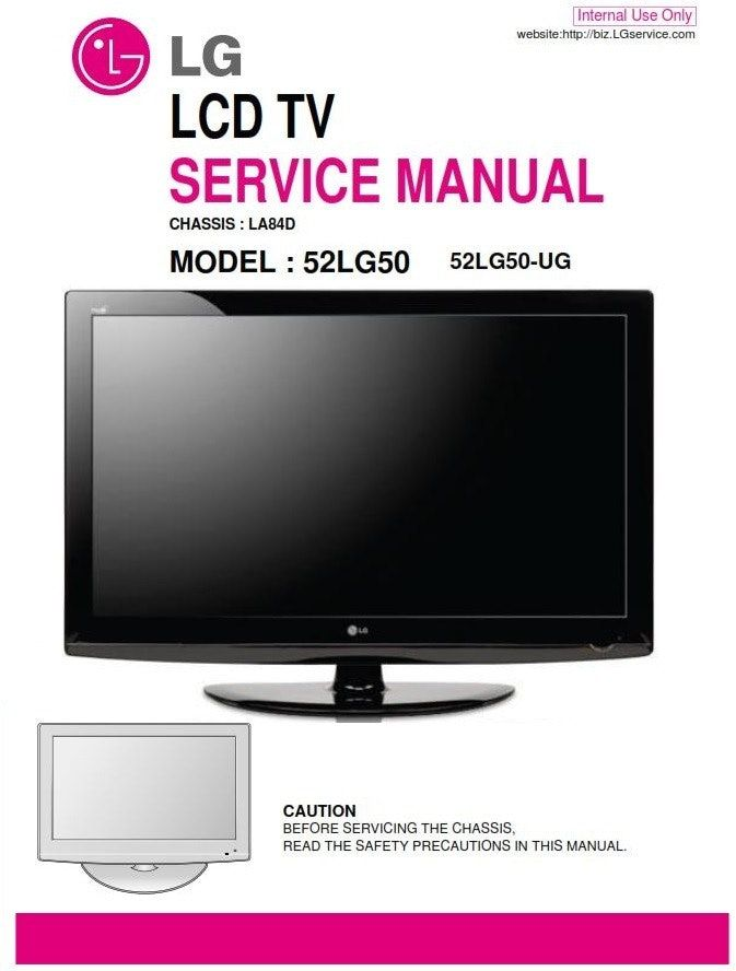 Lg 52lg50 Ug Tv Original Service Manual Schematics Tv Services Repair Guide Electronic Circuit Projects
