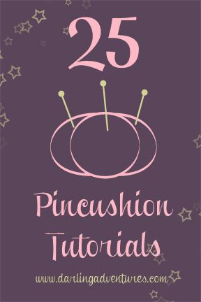 25 Pincushion Tutorials: Here are links to some of my all-time favorite pincushion tutorials – in no particular order. Make a dozen for yourself and make some for your friends. They are great as gifts or party favors!