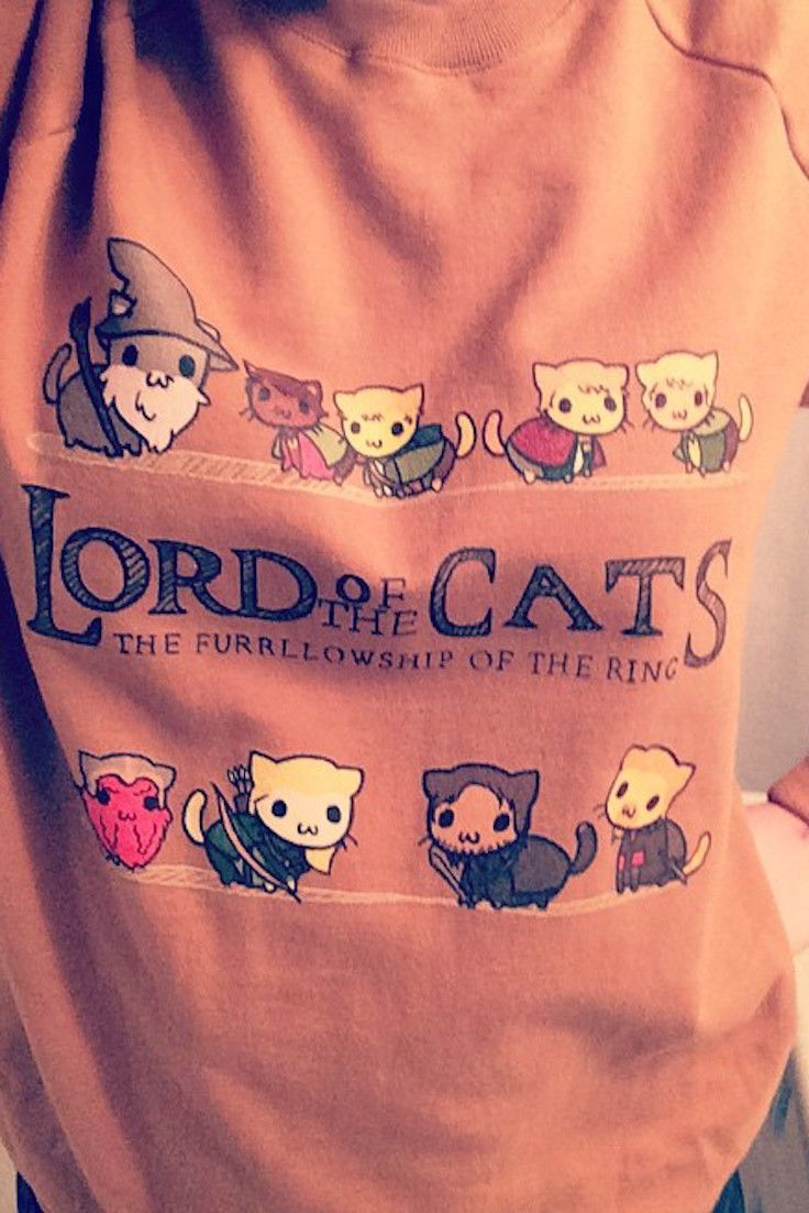 "Redbubble has your new go-to funny tee. We can't get over this ""Lord of the Cats"" parody—it combines two of our favorite things!"
