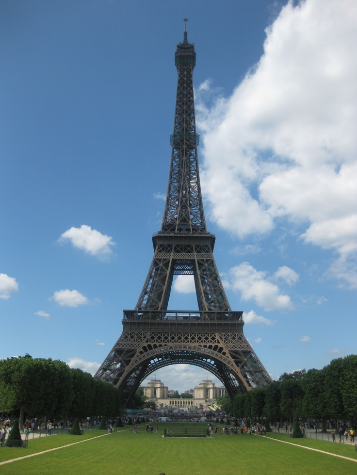 Had a glass of rose champagne at the very, very top of the Eiffel Tower, with my Mama!!