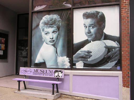 Mark this off my list! I've been there! The Lucille Ball- Desi Arnaz Museum in Lucy's hometown, Jamestown, NY.
