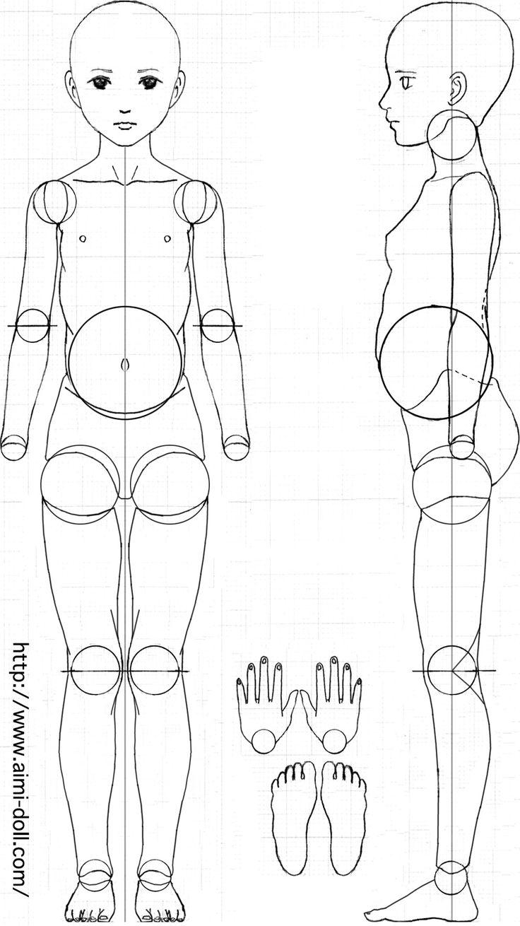 woman_BJD Pattern  Pin by www.pinterest.com/vasilisasdolls/doll-tutorials-resources/