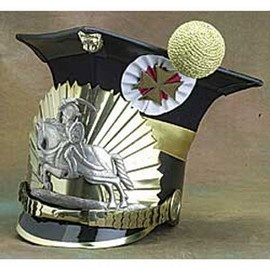 "Cap used by 17th Polish-Lithuanian Uhlans Regiment in 1912 (with large Lithuanian Coat-of-arms - ""Pogon"" in the front. This real size cap was made based on an original from Polish National Military Museum in Warsaw."