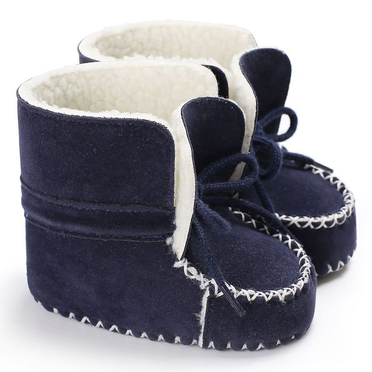 New sheepskin Leather Wool fur baby boy Winter boots infant girls warm Moccasins shoes with plush lace up booties. Yesterday's price: US $6.81 (5.63 EUR). Today's price: US $4.22 (3.49 EUR). Discount: 38%.