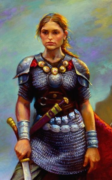 Gwenllian Ferch Gruffydd (1097-1136) Welsh princess and shield-maiden that led an army against Norman-English forces at Kidwelly Castle. She was beheaded as a warning to the other princes of wales. After this, Wales unified and drove out the Norman invaders. Ddail Achos Gwenllian!