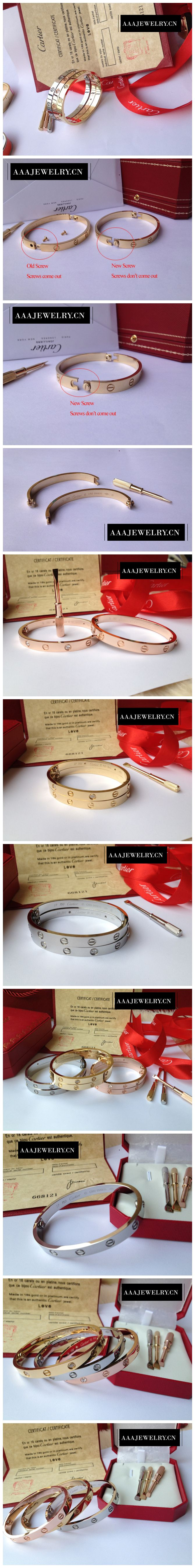 2016 Replica Cartier Love Bracelet Yellow Gold, White Gold & Pink Gold