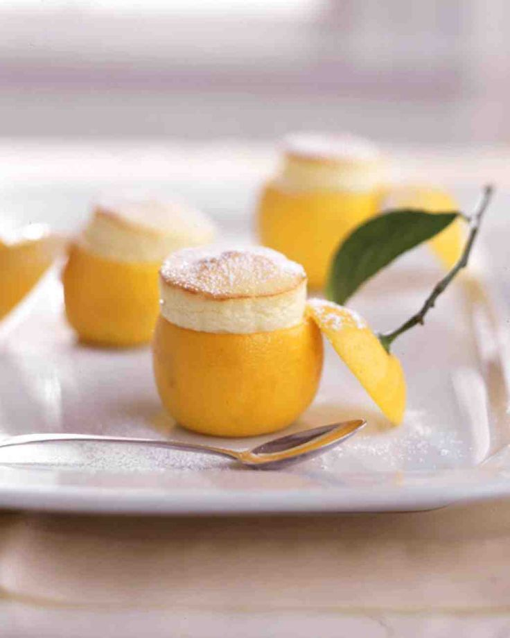 Little Lemon Souffles: I can neither imagine making these nor going through life without trying at least once.....