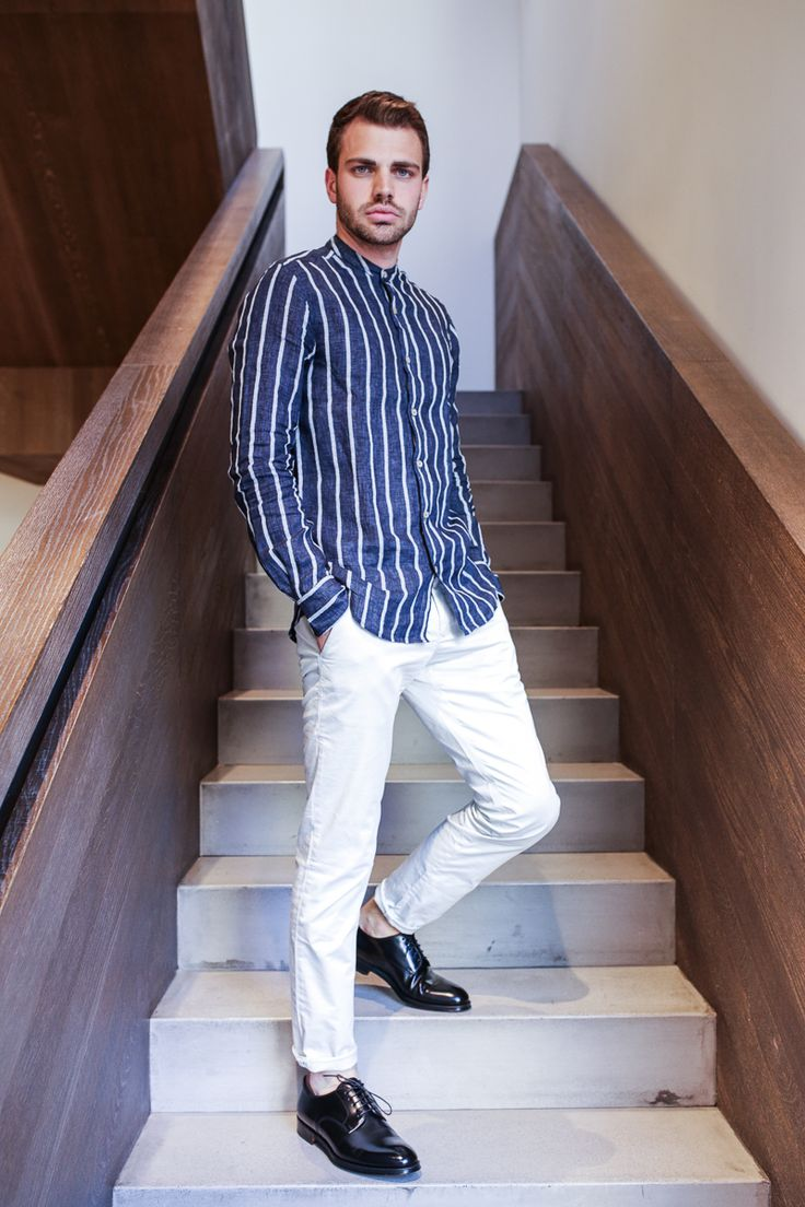 #Man Outfit tips with XACUS Linen striped shirt and Siviglia Chino pants. #dandy #outfit #man #summer #shirt #cocktail #party #cool #fashion #dresscode #bestshop #online #shopping #gift #sale #weekend #vintage #feel #urban #globetrotter #musthave —