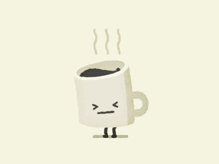 Tuesday morning's coffee is just too darn HOT.  Part of my sticker pack Moody Foodies:  https://www.behance.net/gallery/43627687/Moody-Foodies-for-StickerPlace