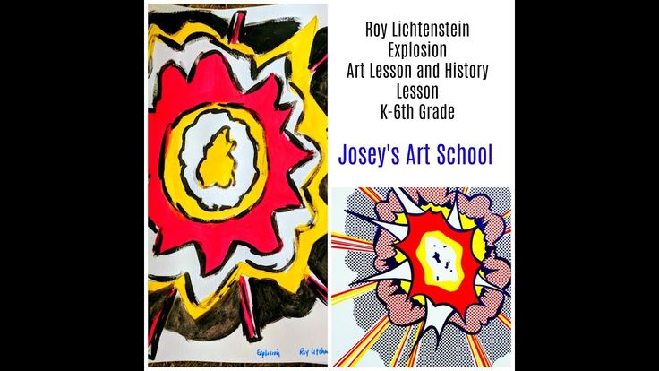 Joseys Art School Episode #146 Roy Lichtenstein Explosion Art Project fo...