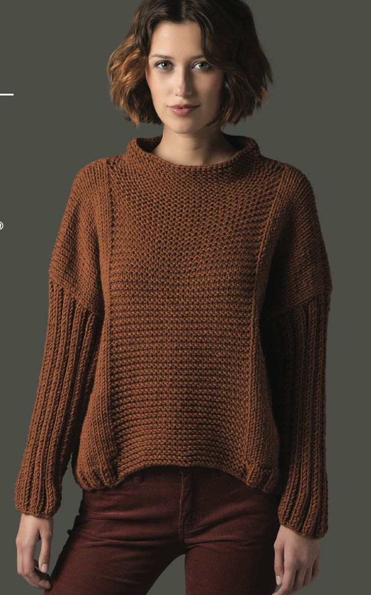 Free pattern from Lion Brand. Knit Pullover by Irina Poludnenko