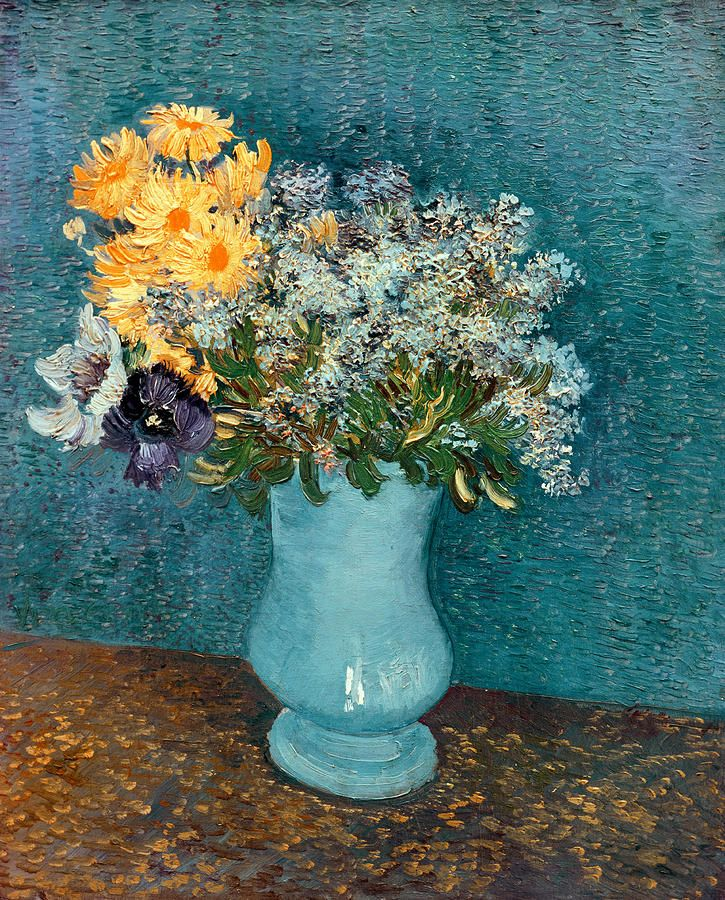 Vase Of Flowers Painting  - By Vincent Van Gogh