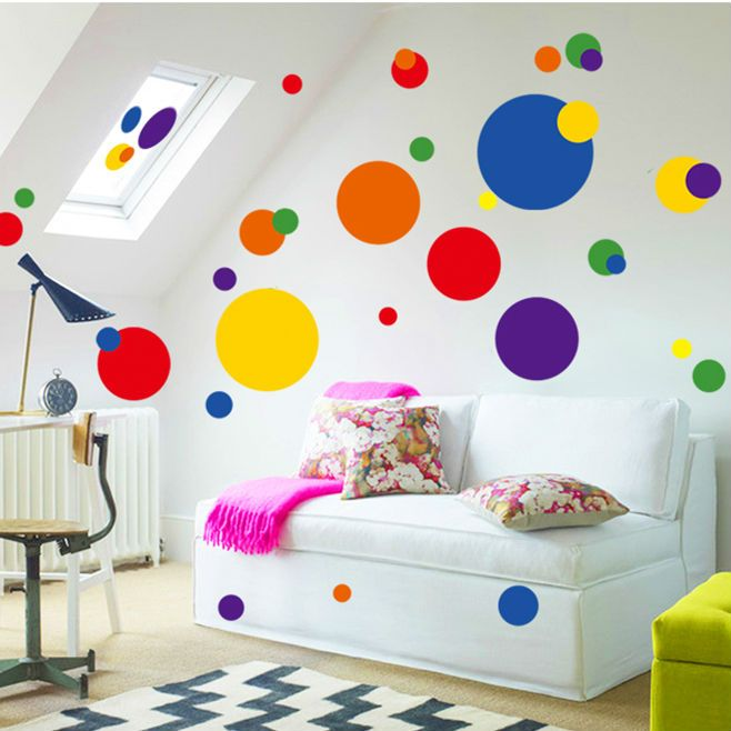 cheap stickers home decor buy quality wall stickers home decor directly from china home decor suppliers new design colorful circle wall sticker bathroom