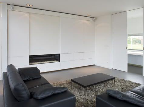 tv weggewerkt achter schuifwand  Interieur  Pinterest ...