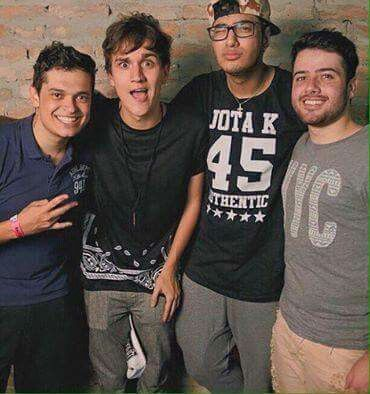 Lukas Marques, Christian Figueiredo, Daniel Molo e Rafael Moreira <3