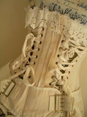 beautiful antique corset  www.pinterest.com/wholoves/corsets  #corsets