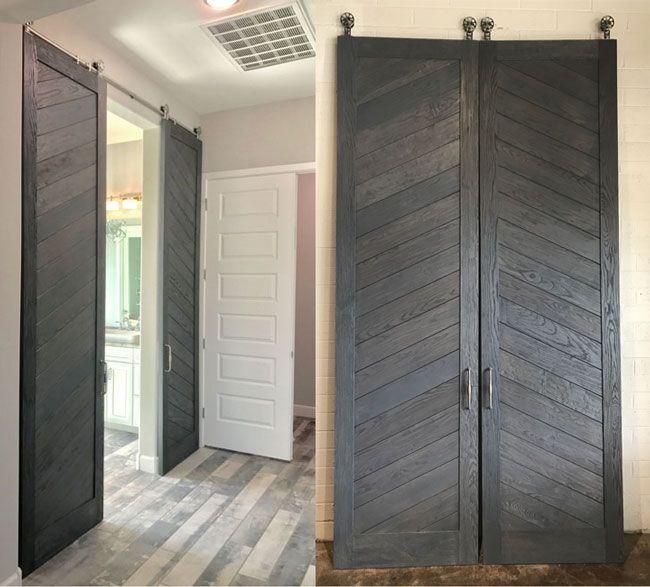 Double Herringbone Sliding Barn Doors Custom Barn Doors Barn Door Doors