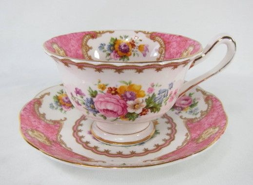 Royal Albert (Thomas C. Wild & Sons) teacup & saucer. This set was made in Longton, England - backstamp c.1944 and is marked with the Registration Number 855022.