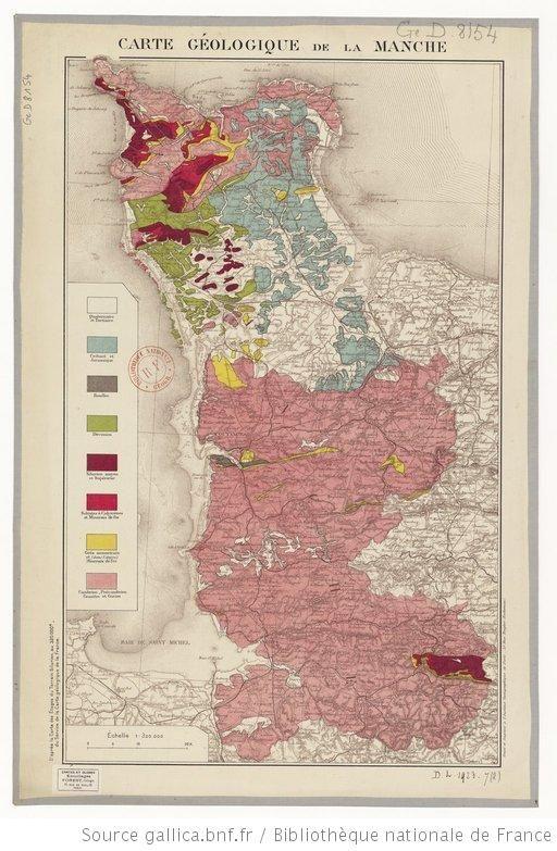Carte géologique de la Manche / d'après la carte au 320.000e du Service de la Carte géologique de la France - 1
