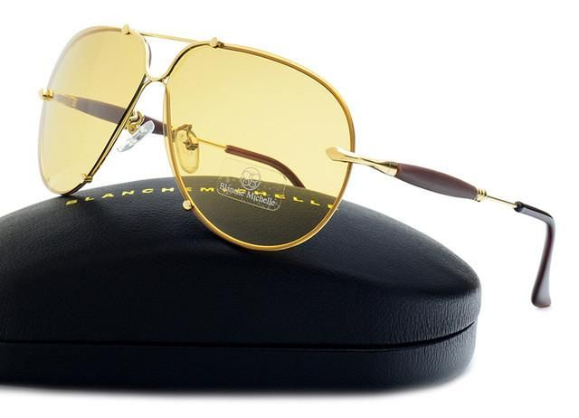 BM 2017 High Quality Fashion Rimless Sunglasses Men Polarized UV400 Sunglass Driving Sun Glasses Brand Designer oculos With Box