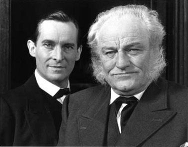 Jeremy Brett as Sherlock and Charles Gray as his brother Mycroft in the Granada series