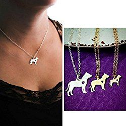 Pitbull Dog Necklace - Staffordshire - IBD - Personalize with Name or Date - Choose Chain Length - Pendant Size Options - Sterling Silver 14K Rose Gold Filled Charm - Ships in 2 Business Days