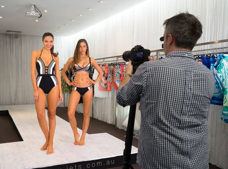 The models showcase new season styles featuring Jets Swimwear Luxe  #JETSSwimwear