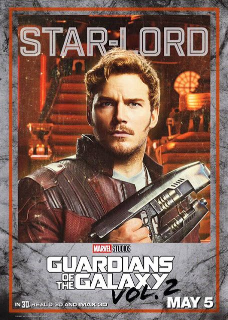 James Gunn divulga pôsteres individuais de Guardiões da Galáxia Vol. 2