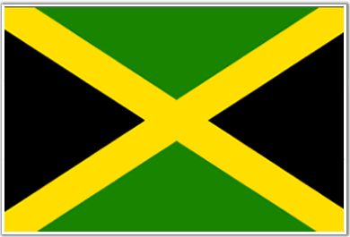 Jamaica flag - Dream wedding destination. Black is the symbol of strength and creativity of Jamaican people, and gold represents sunlight and Jamaica's natural wealth.All these Pan-African colors that are used in the national flag of Jamaica, pay honor to Jamaica's noteworthy African heritage.