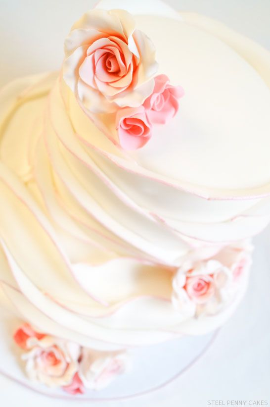 Rose Petal Cake |  by Steel Penny Cakes  |  TheCakeBlog.com