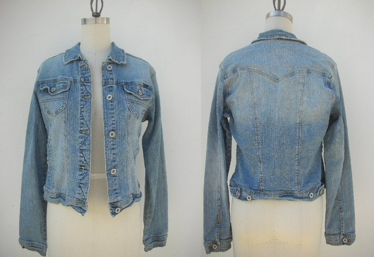 s/m // vintage faded demin jean jacket...hip and cute. $27.00, via Etsy.