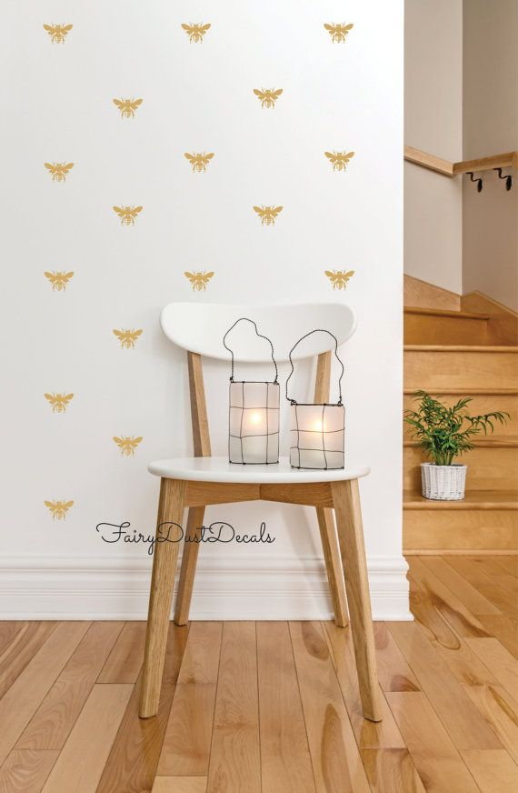 Honeybee Wall Decals Set Of 25 Bee Stickers By FairyDustDecals