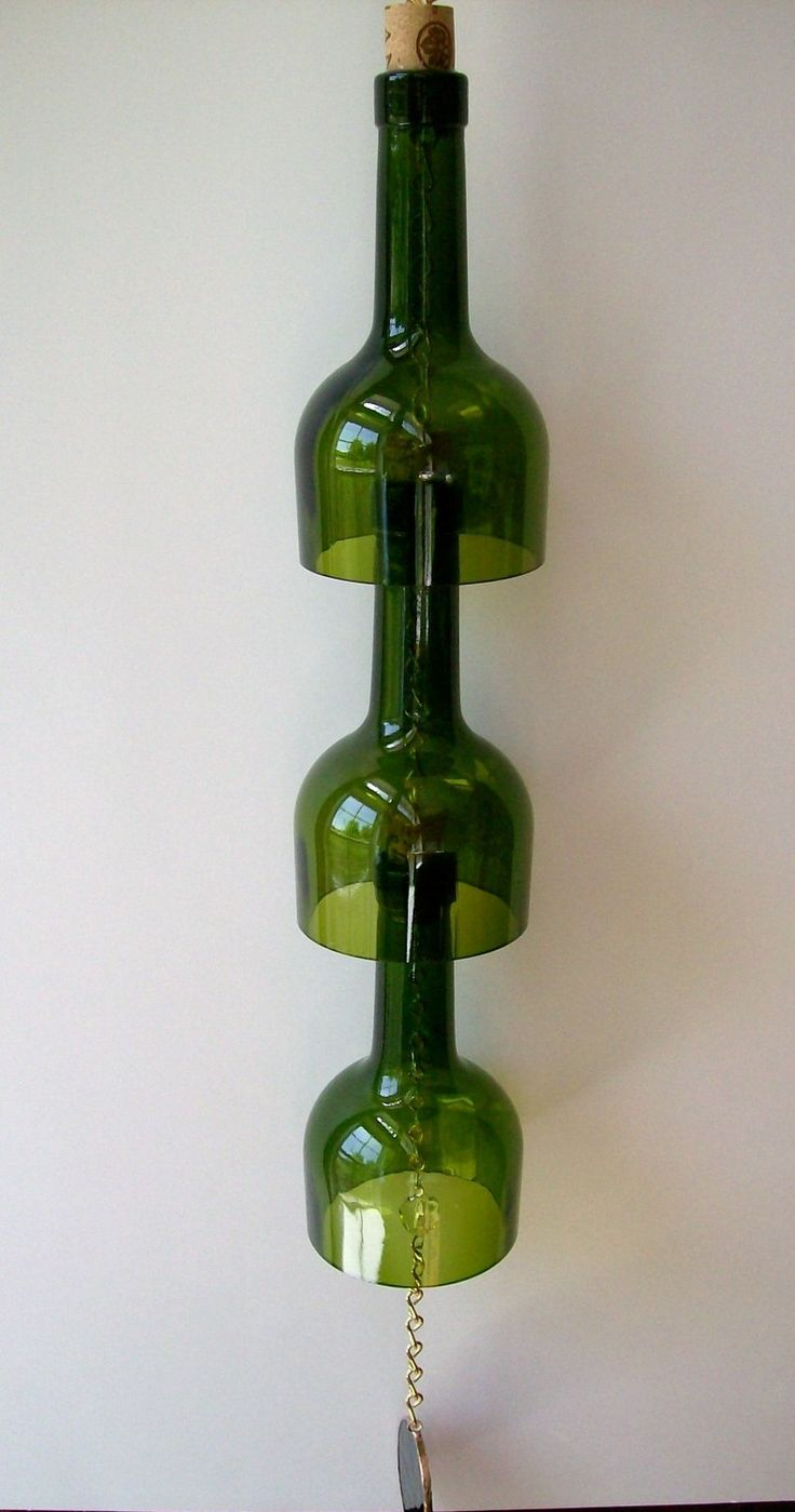 DIY Wine Bottle Wind Chime - Possible to make this longer and