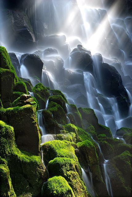 The stunning Ramona Falls in Oregon, USA.