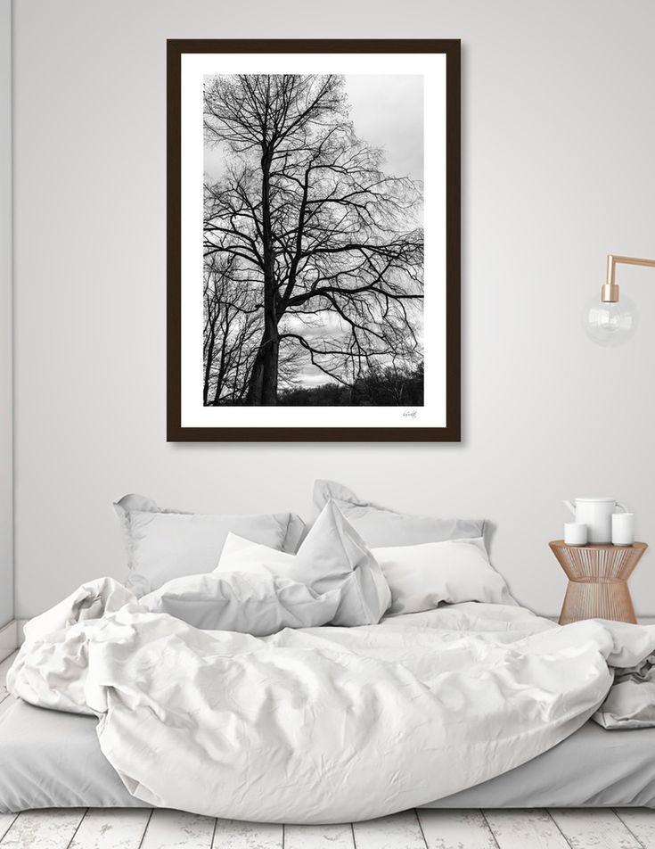 «Tree», Numbered Edition Art Print by haroulita - From 18€ - Curioos  #wallart #walldeco #trees #minimal #minimalist #blackandwhite #photooftheday #homedecor #homedecor #homedecoration #bedroom #bedroomdecorideas #haroulita
