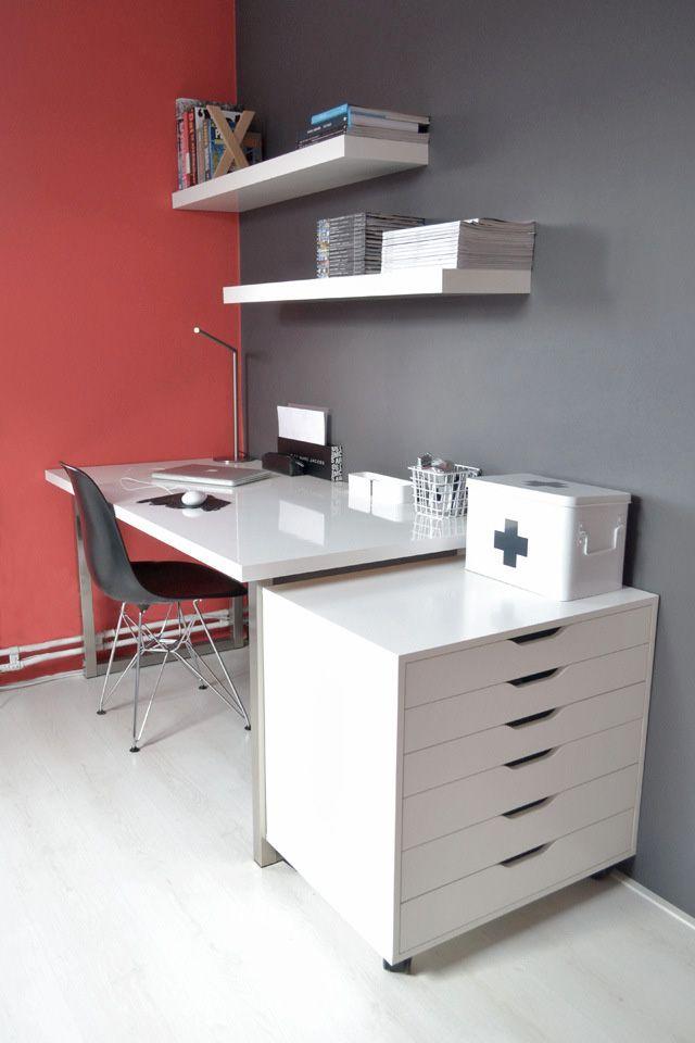 ikea alex drawer unit on casters white furniture workspace interior design architecture desk minimal marc by marc jacobs inspiration fashion...