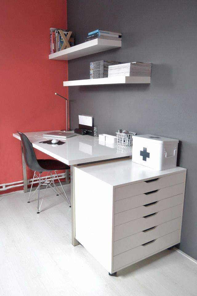 ikea alex drawer unit on casters white furniture workspace interior design architecture desk. Black Bedroom Furniture Sets. Home Design Ideas