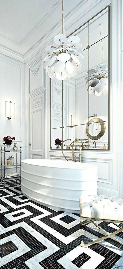 Luxury #baños #bathroom #gresite #clasico #classic