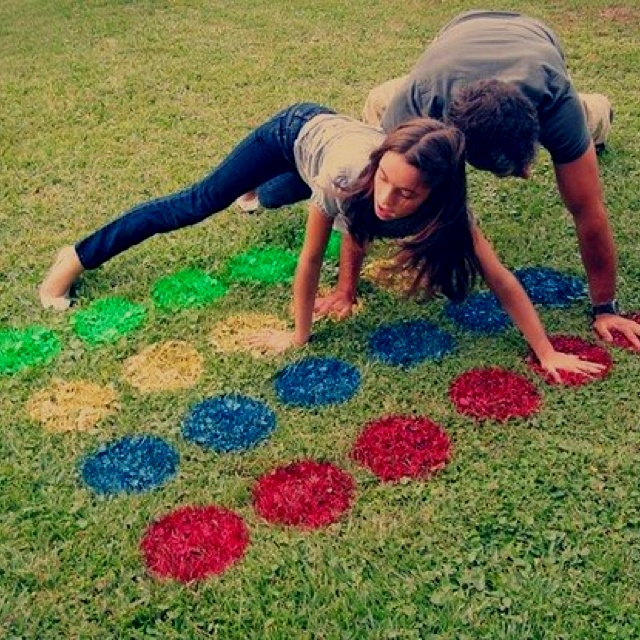 Fun party activity! Lawn twister