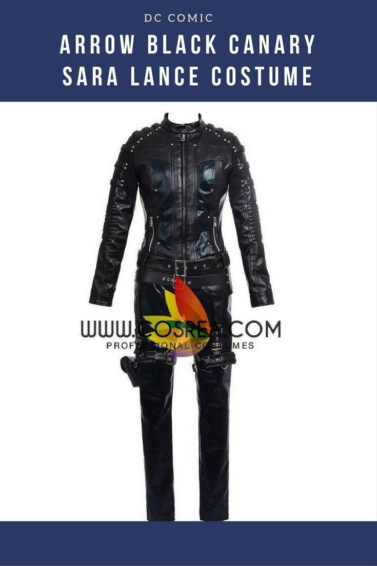 Arrow Black Canary Sara Lance Cosplay Costume