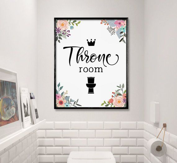 Funny Bathroom Art Throne Room Bathroom Decor Toilet Sign Etsy Funny Bathroom Art Water Closet Decor Bathroom Decor
