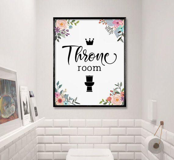 Funny Bathroom Art Throne Room Bathroom Decor Toilet Sign Etsy Bathroom Decoration Items Funny Bathroom Art Bathroom Art