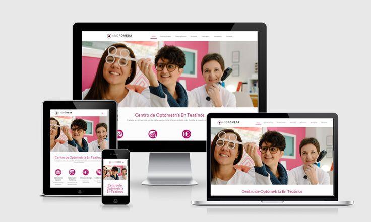 Diseño web para negocios locales en Málaga. Diseño corporativo para ópticas, centros ópticos y centros médicos.