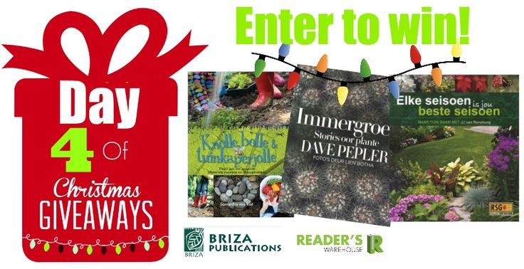 Day 4 of Christmas Giveaways sponsored by Briza Publications. Filled with everything any green thumb would need to create their perfect garden. Enter here: https://gleam.io/y5gd5/day-4-of-christmas-giveaways and you could be the lucky winner!