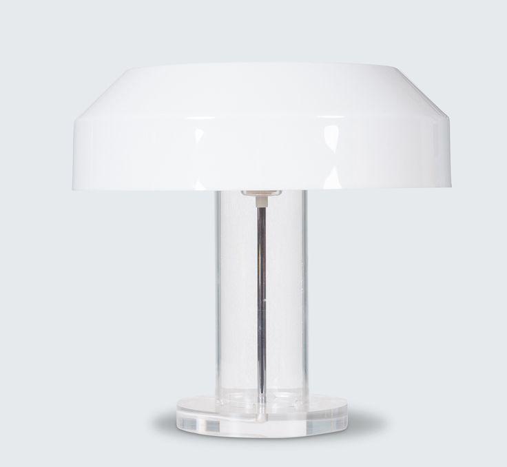ABN TABLE LAMP BY ALDO VAN DEN NIEUWELAAR, 1970S line Stunning plexiglass based lamp by renowned Dutch designer Aldo van den Nieuwelaar. In the 1970s, Aldo van den Nieuwelaar was commissioned by ABN Bank to design a table lamp.